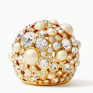 New Kate Spade pick a pearl cocktail ring